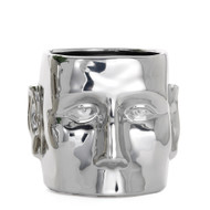 Face Vase Chrome Ceramic Pot