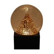Egyptian Pyramid Glitter Globe