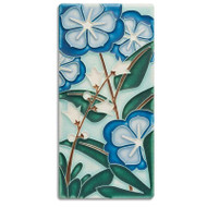 Motawi Tileworks Starry Flowers Tile Blue