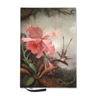 Hummingbirds and Orchids by Heade Lined Journal