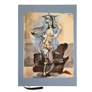 Bather by the Sea by Picasso Lined Journal