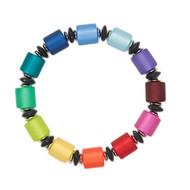 Marie Cylinder Bead Resin Bracelet
