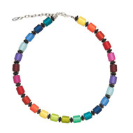 Marie Cylinder Bead Resin Necklace