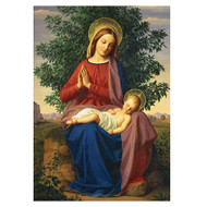 Madonna and Child Half Note Holiday Cards