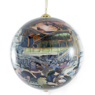 Detroit Industry Murals Inspired Glass Ornament
