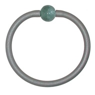 Tubino Bracelet Silver/Steel Murano Glass Bead