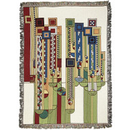 Frank Lloyd Wright Saguaro Forms Throw