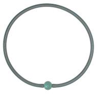 Tubino Necklace Silver/Steel Murano Glass Bead