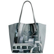 Diego Rivera Detroit Industry Detail Leather Tote