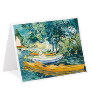Vincent van Gogh Bank of the Oise Single Card