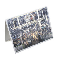 Diego Rivera Detroit Industry Murals South Wall Single Note Card
