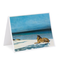 Jean-Leon Gerome Solitude Single Note Card