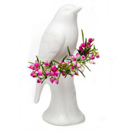 Porcelain Bird Vase Matte White