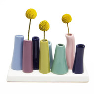Colorful Tubes Ceramic Vase Serenity