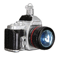 Camera Glass Ornament