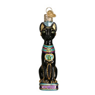 Egyptian Cat Glass Ornament