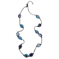 Tanzanite and Labradorite Crystal Necklace