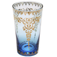 Moroccan High Ball Glass Azure Large