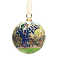 Rounded Flower Bed Cloisonne Ornament
