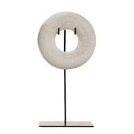 Beaded Circle Sculpture White