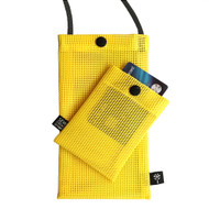 Hold the Phone Yellow Mesh Bag