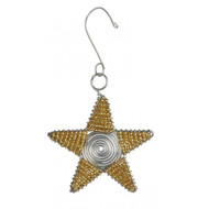 Gold Star Ornament Large