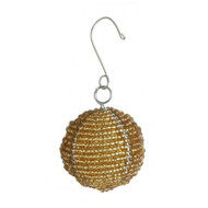 Beaded Gold Ball Ornament