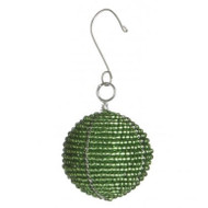 Beaded Green Ball Ornament