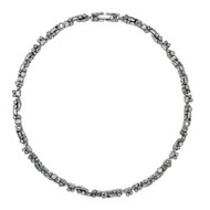 Patricia Locke Sugar Necklace in Silver/Champange
