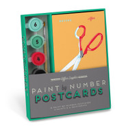 Office Supplies Paint by Number Postcards Kit