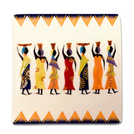 Ndebele Small Square Plate