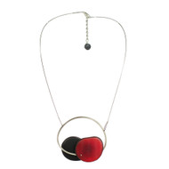 Tagua Nut Necklace in Red & Black