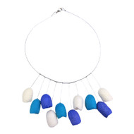 Tricolor Tulips Silk Cocoon Necklace