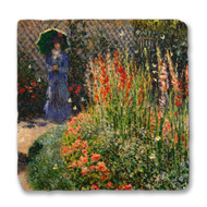 Monet's Rounded Flower Bed (Corbeille de fleurs) Coaster