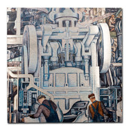Diego Rivera Detroit Industry Murals South Wall Aluminum Print