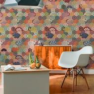 Noh Theater Robe Wallpaper Repeat Pattern