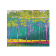Wolf Kahn Magenta, Green and Yellow Boxed Notecards