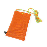 Hold the Phone Orange Mesh Bag