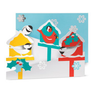 Merry Birdhouses Boxed Holiday Cards