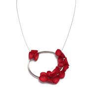 Garden Poppies Necklace Red