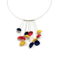 Racimo Silk on Wire Necklace Multi