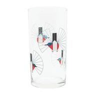 Charley Harper Hummingbird in Flight Glass