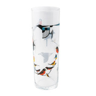 Charley Harper Birds on a Vine Glass