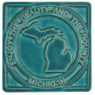 Pewabic Pottery Michigan Enjoy the Beauty & Bounty Tile Assorted