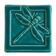 Pewabic Pottery Dragonfly Tile Asst