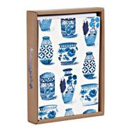 Classic Indigo Luxe Foil Notecard Box