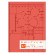 FLW Bright Geometric Debossed Notecards