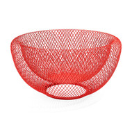 Wire Mesh Bowl Red