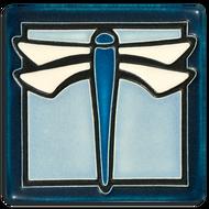 Motawi Tileworks Dragonfly Tile Light Blue