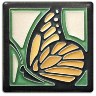 Motawi Tileworks Butterfly Tile Green